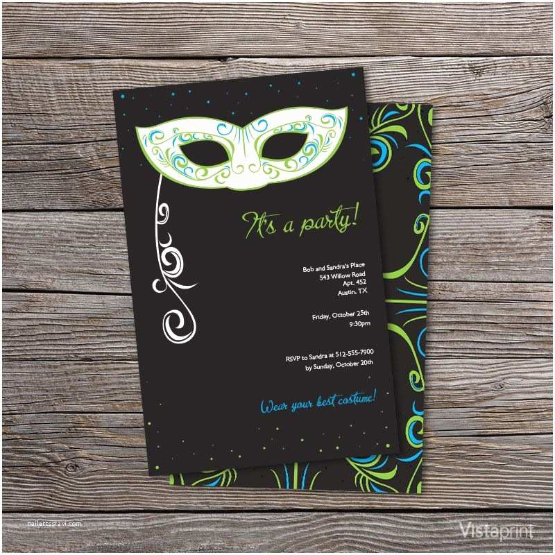 Vistaprint 50th Wedding Anniversary Invitations Black Masquerade Ball Party