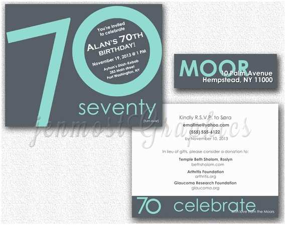Vistaprint 50th Wedding Anniversary Invitations Double Sided Anniversary or Birthday Invitation by