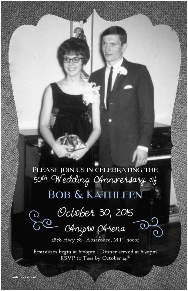 Vistaprint 50th Wedding Anniversary Invitations Everyday Ink Designs – Creative Customized Invitations