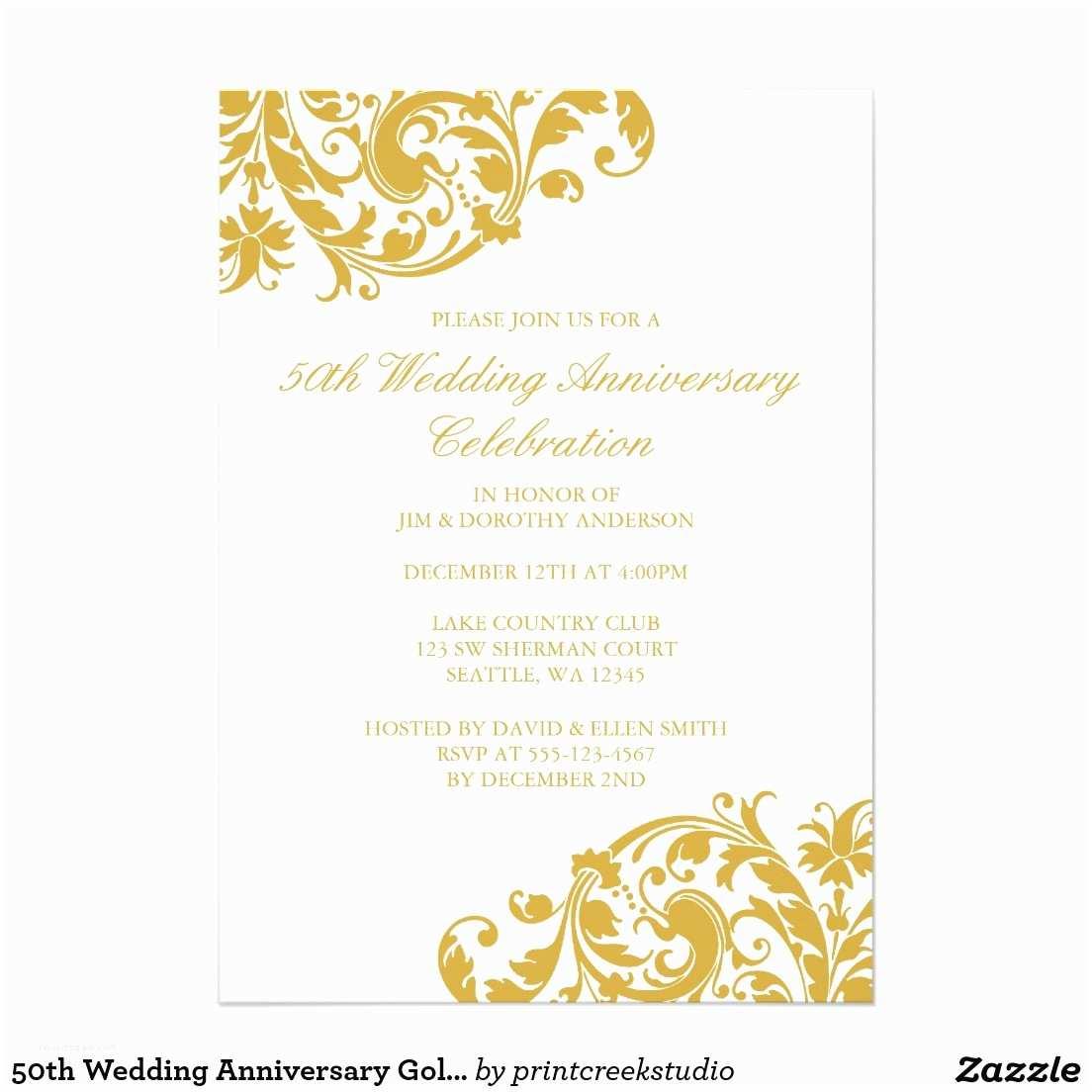 Vistaprint 50th Wedding Anniversary Invitations Zazzle 50th Wedding Anniversary Invitations Various