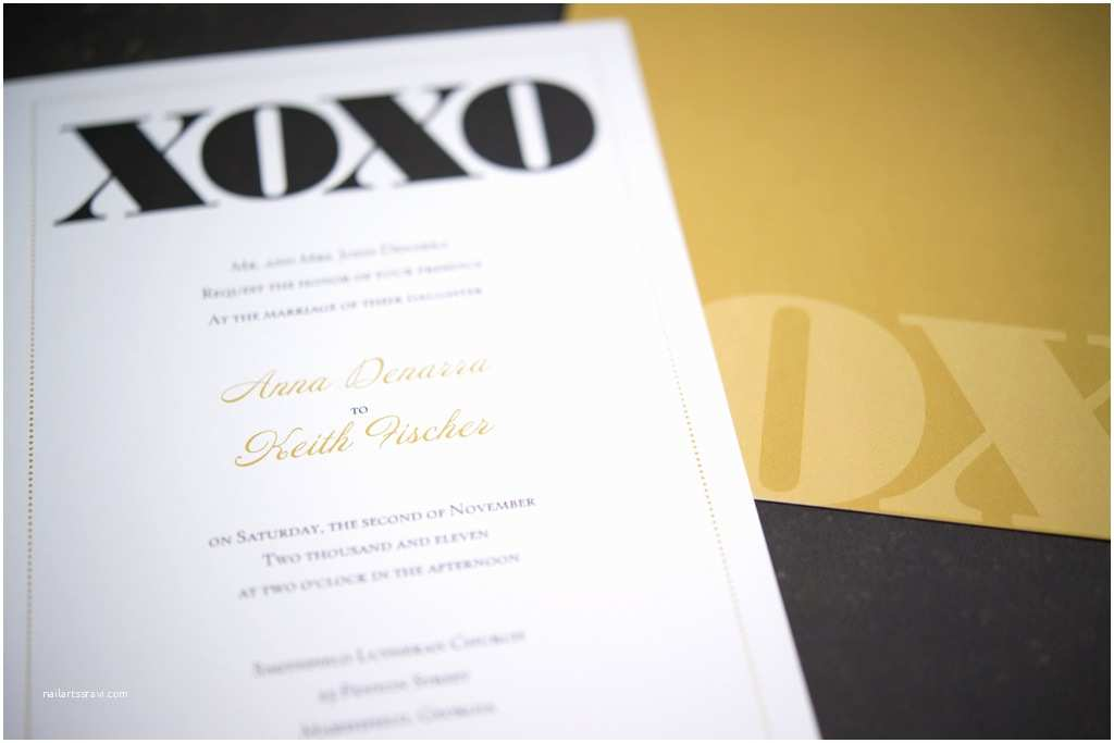 Vistaprint Com Wedding Invitations Vistaprint Wedding Invitation Black Gold Xoxo 3