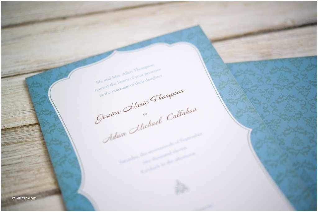 Vistaprint Com Wedding Invitations Vistaprint Wedding Invitation Blue White 1
