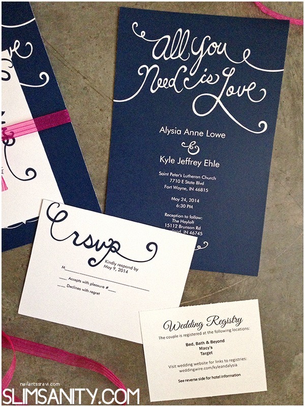 Vistaprint Wedding Invitations Affordable Wedding Invitations From Vistaprint Slim Sanity