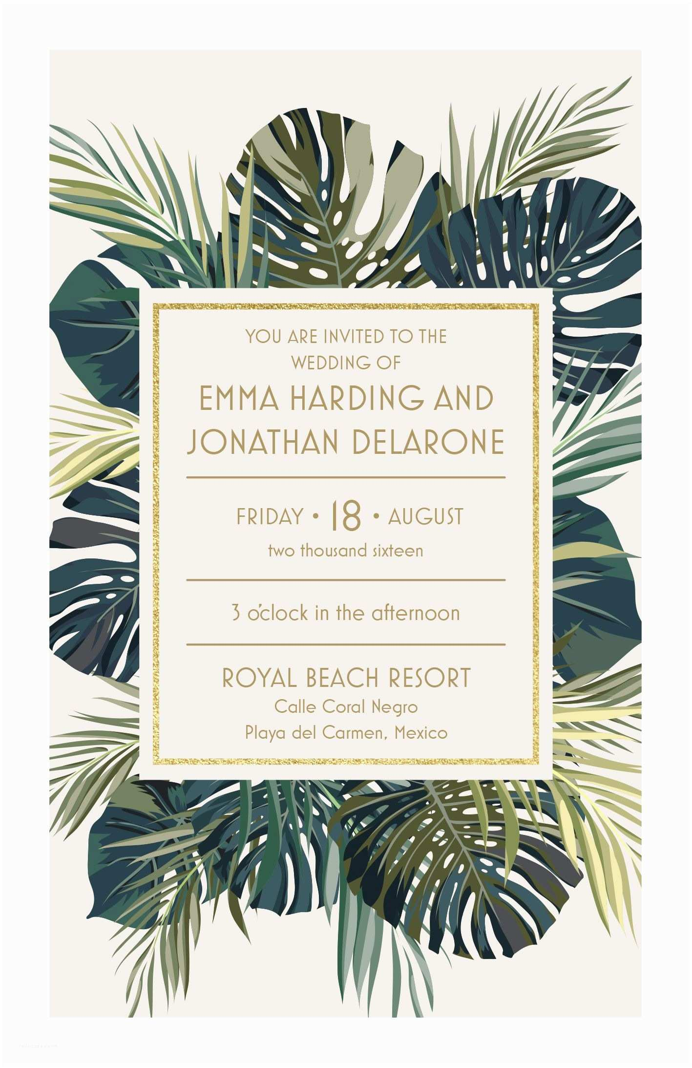 Vistaprint Wedding Invitations Palm Leaves Wedding Invitation Vistaprint