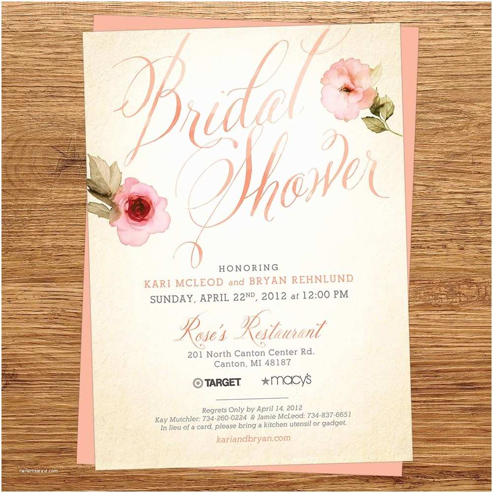 Vistaprint Wedding Shower Invitations Rustic Bridal Shower Invitations Vistaprint – Mini Bridal