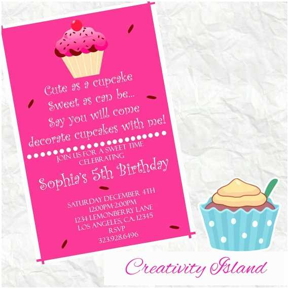 Walgreens Birthday Invitations Cute as A Cupcake Birthday Invitation 4x6 Walgreens Picture