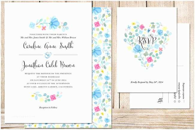 Watercolor Floral Wedding  19 Totally Gorgeous Watercolor Wedding