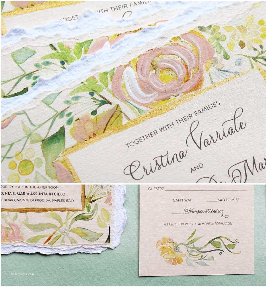 Watercolor Floral  Invitations A Peek Into The Studio Watercolor Floral