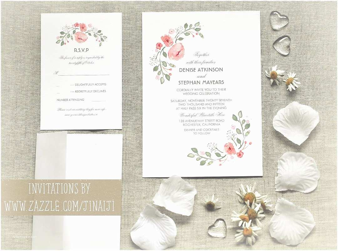 Watercolor Floral  Invitations Cute Watercolor Flowers  Invitations – Need