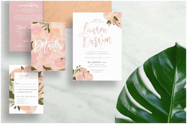Watercolor Floral Wedding Invitations Floral Wedding Invitations Watercolor Wedding