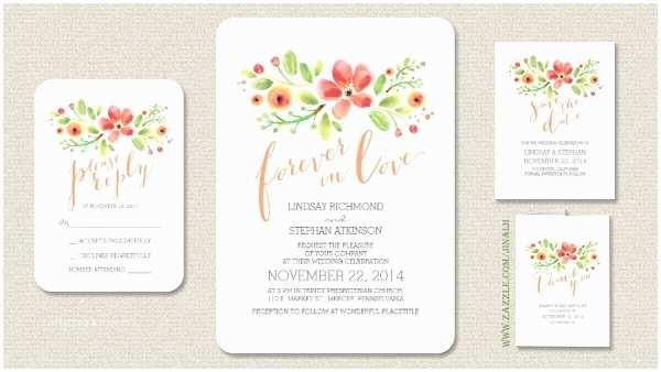 Watercolor Floral  Invitations Modern