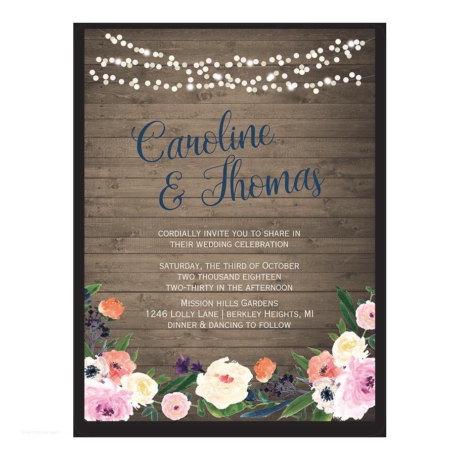 Watercolor Floral Wedding Invitations Watercolor Floral Bohemian Wildflower Wedding Invitation