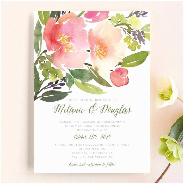 Watercolor Floral Wedding Invitations Watercolor Floral Wedding Invitations By Yao