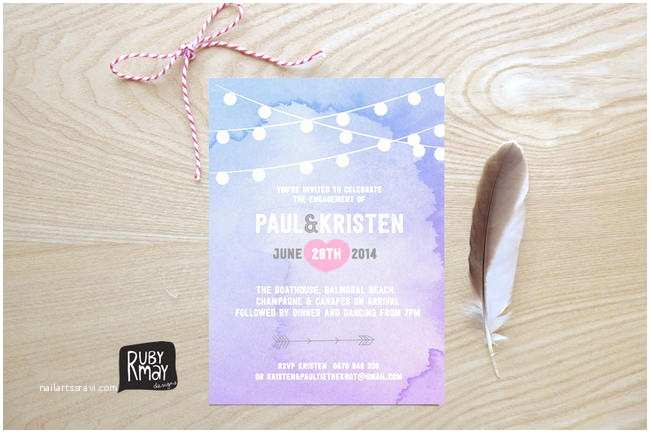 Watercolour Wedding Invitations 19 totally Gorgeous Watercolor Wedding Invitations