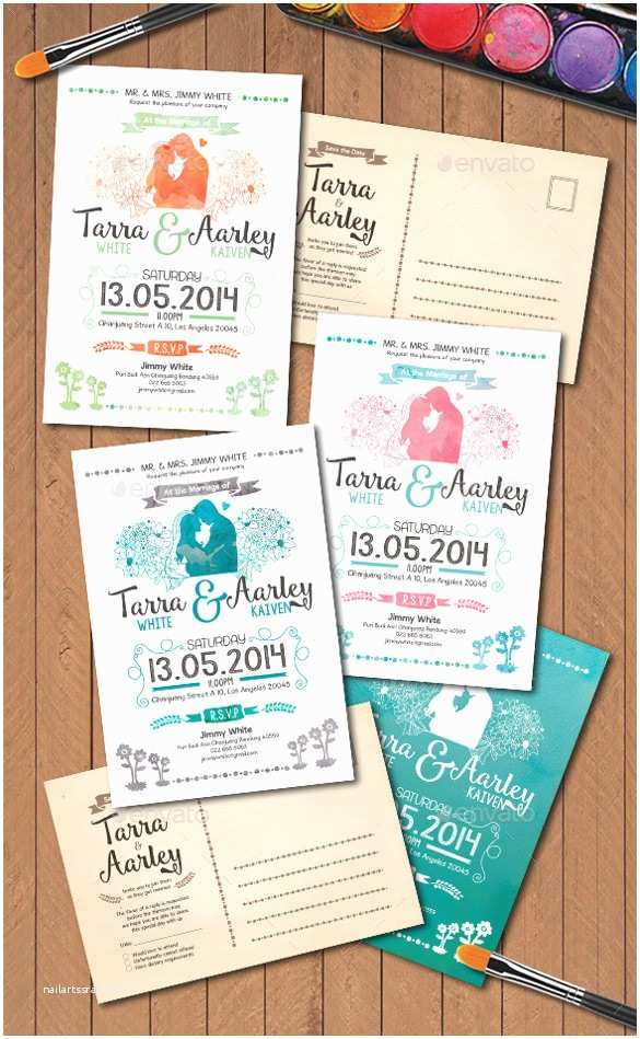 Watercolour Wedding Invitations 30 Wedding Party Invitation Templates – Free Sample