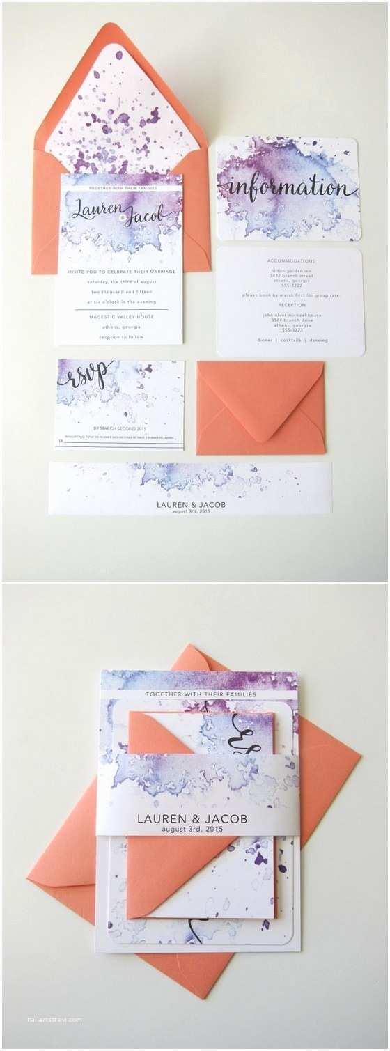 Watercolour Wedding Invitations 40 Watercolor Wedding Invitation Ideas You Will Love