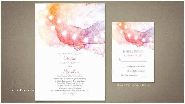 Watercolour Wedding Invitations Beach Wedding