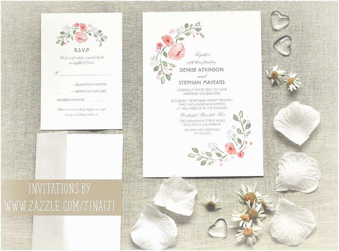 Watercolour Wedding Invitations Cute Watercolor Flowers Wedding Invitations – Need Wedding