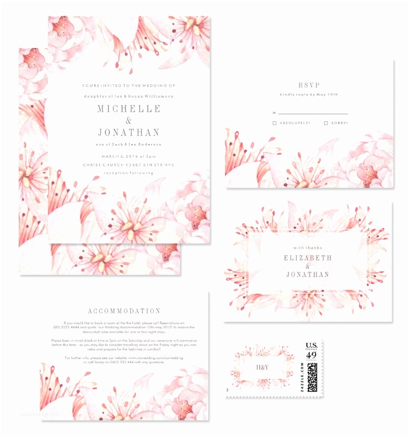 Watercolour Wedding Invitations Gorgeous Modern & Vintage Floral Wedding Invitations From