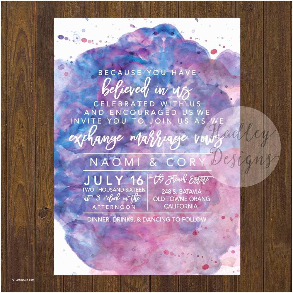Watercolour Wedding Invitations Hadley Designs Watercolor