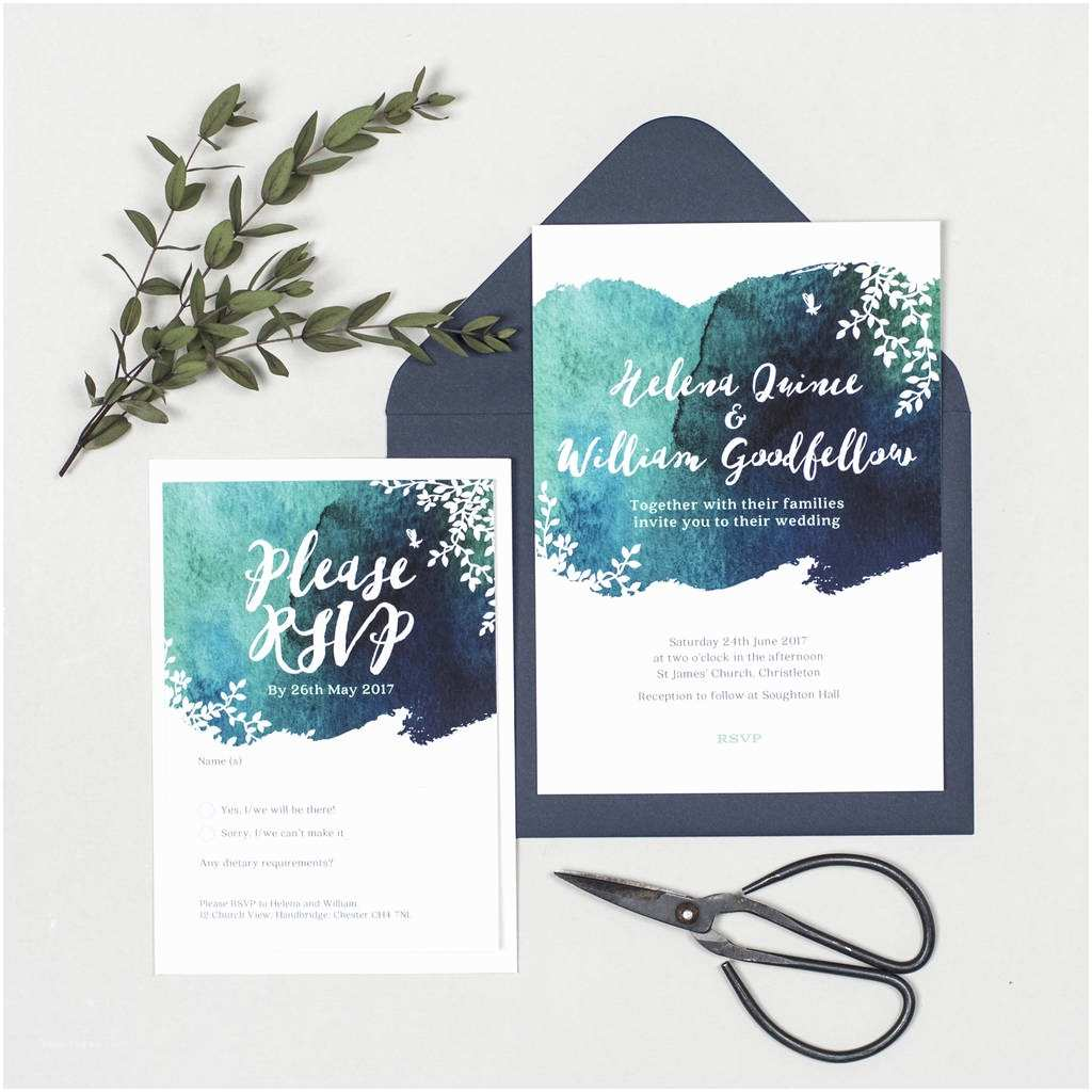 Watercolour Wedding Invitations Helena Watercolour Wedding Invitations by Project Pretty