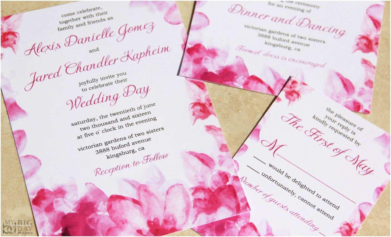 Watercolour Wedding Invitations New Floral Watercolor Wedding Invitation Set Pink Watercolor