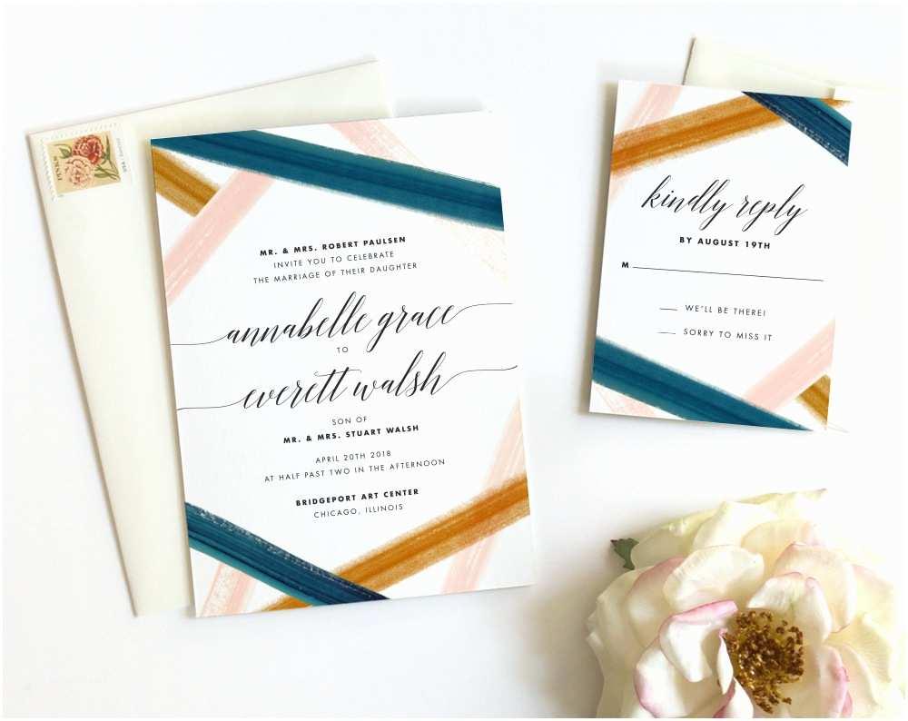 Watercolour Wedding Invitations Rustic Watercolor Wedding Invitations Fine Day Press