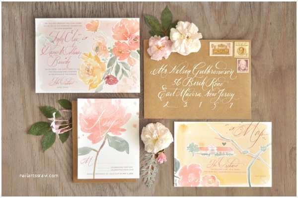 Watercolour Wedding Invitations Tyler David S Floral Watercolor Wedding Invitations
