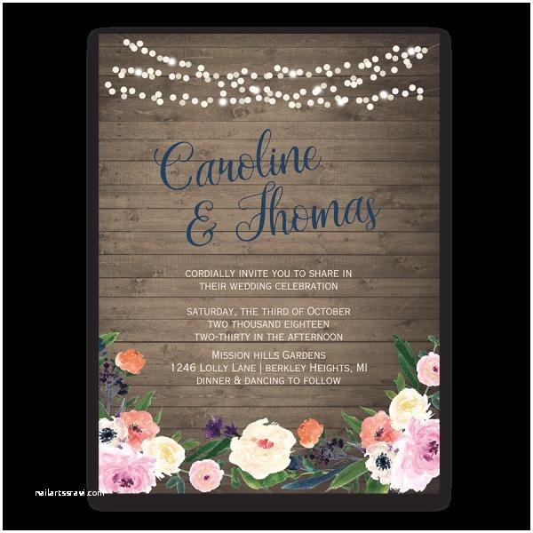 Watercolour Wedding Invitations Watercolor Floral Bohemian Wildflower Wedding Invitation
