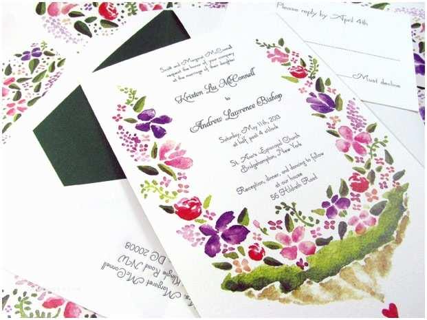 Watercolour Wedding Invitations Watercolor Letterpress Wedding Invitations
