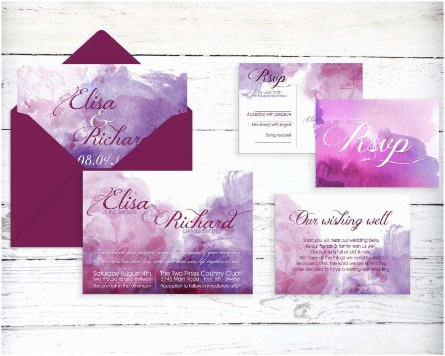 Watercolour Wedding Invitations Watercolor Wedding Invitation Printable Print at Home