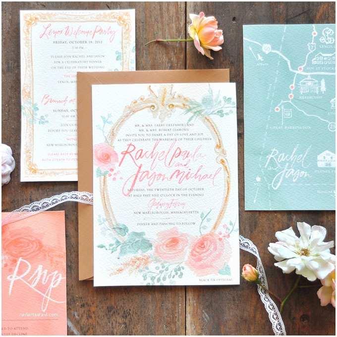 Watercolour Wedding Invitations Watercolor Wedding Invitations Brides