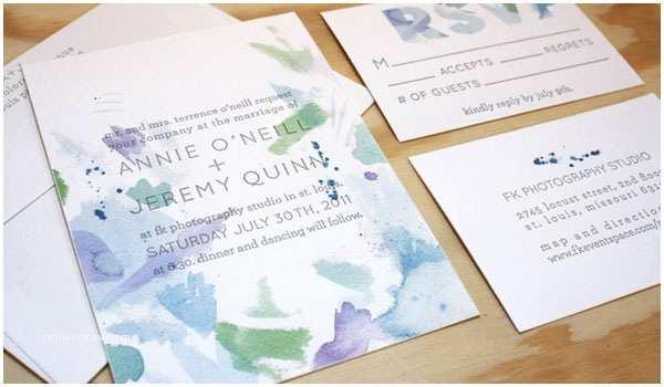 Watercolour Wedding Invitations Watercolor Wedding Invitations by Printerette Press