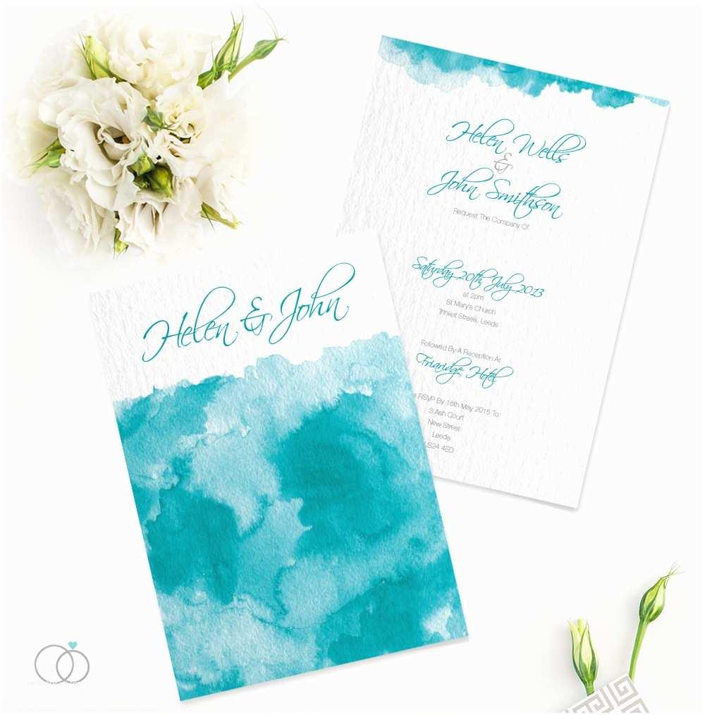 Watercolour Wedding Invitations Watercolour Wedding Invitation Loveli