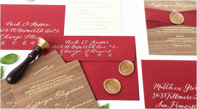 Wax Seal Wedding Invitations Wood Invitations with Wax Seal Paper Rock Scissor