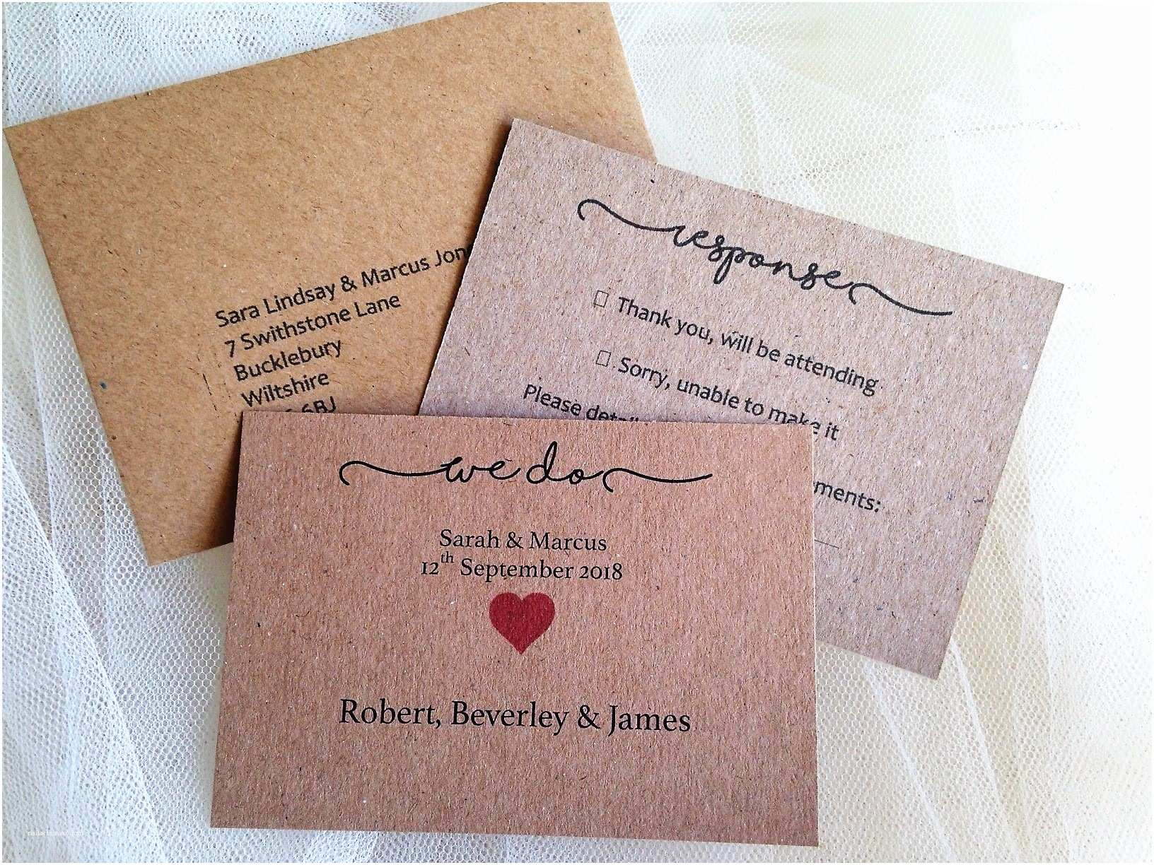 We Do Wedding Invitations Rustic Wedding Invitations