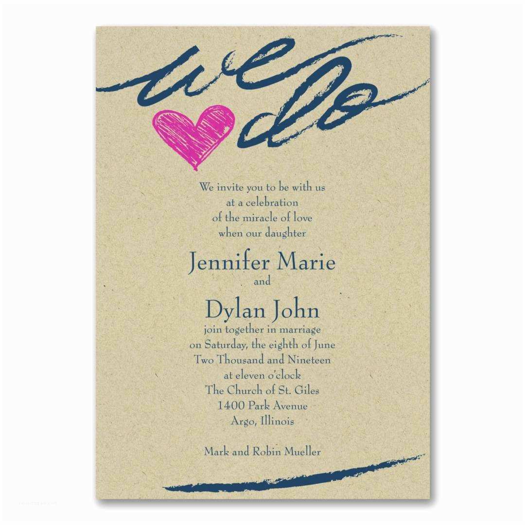We Do Wedding Invitations We Do Heart Wedding Invitations