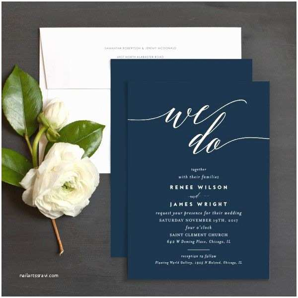 We Do Wedding Invitations We Do Wedding Invitations In Navy Blue and White
