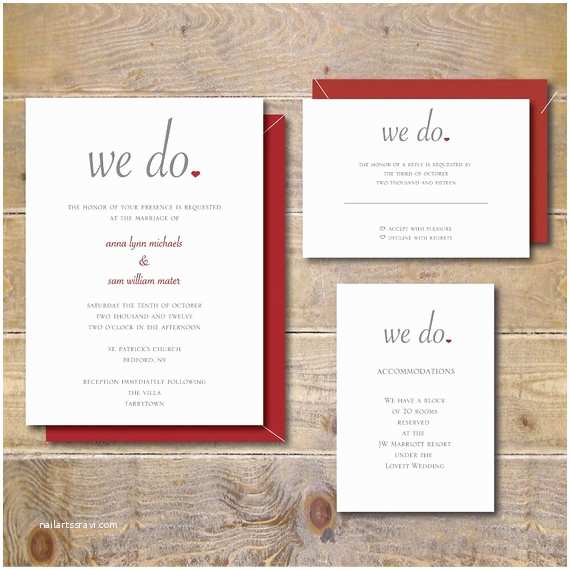 We Do Wedding Invitations Wedding Invitations Summer Wedding Fall Wedding Heart