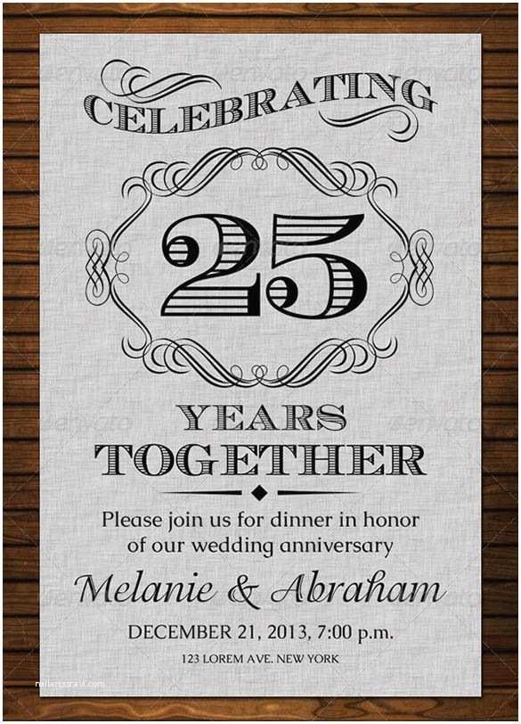 Wedding Anniversary Invitation Templates Anniversary Card Templates – 12 Free Printable Word Pdf