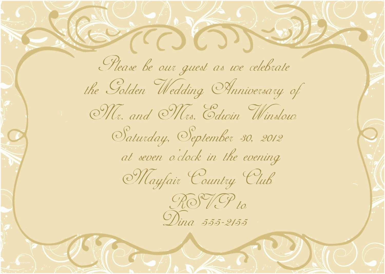 Wedding Anniversary Invitation Templates Anniversary Invitations Golden Wedding Anniversary