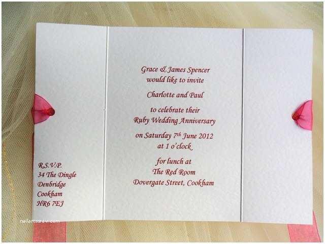 Wedding Anniversary Invitation Templates Gatefold Wedding Anniversary Invitations From £1 Each for
