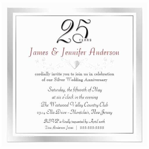 Wedding Anniversary Invitation Wording 25th Wedding Anniversary Invitations Wording Casadebormela