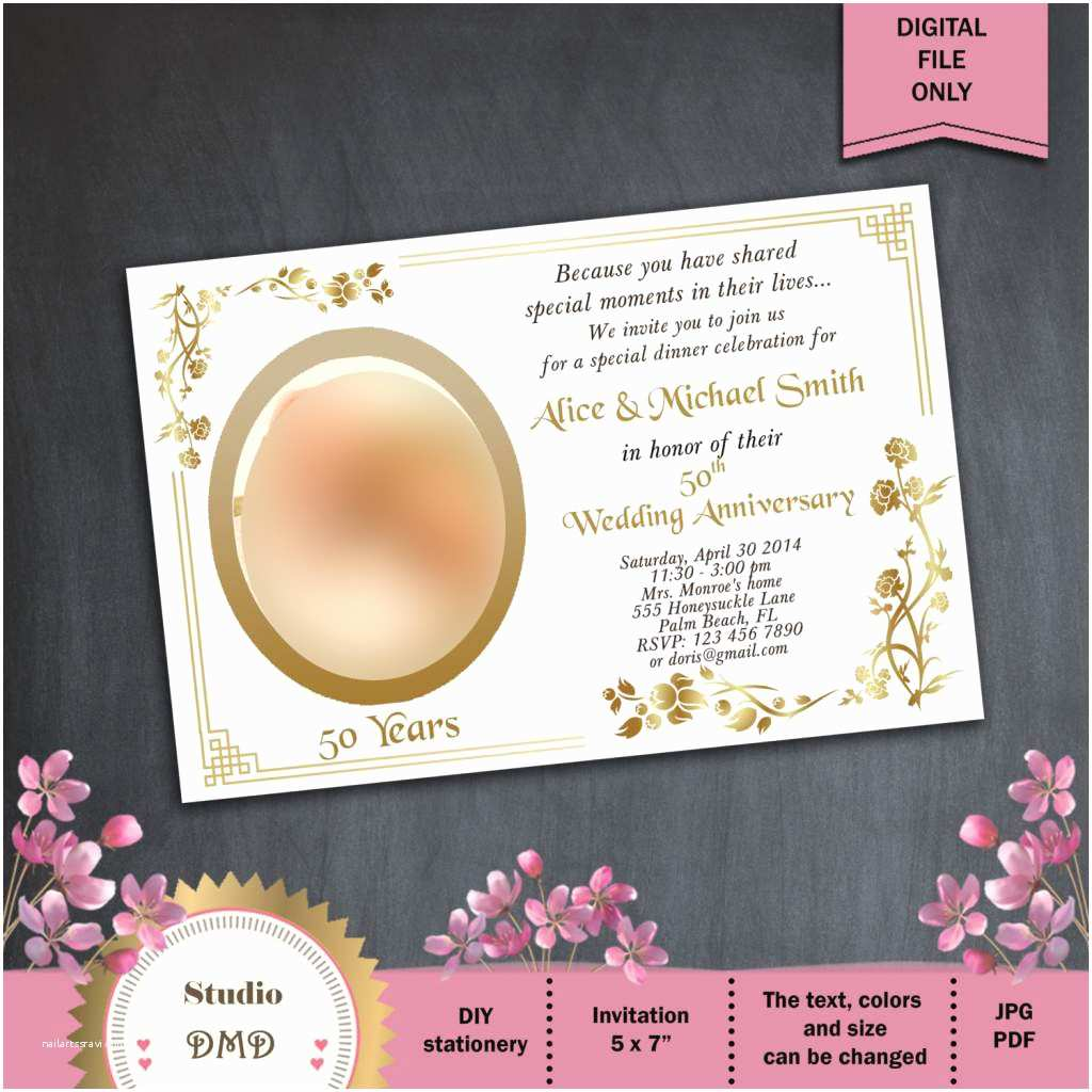 Wedding Anniversary Invitation Wording 50th Wedding Anniversary Invitations