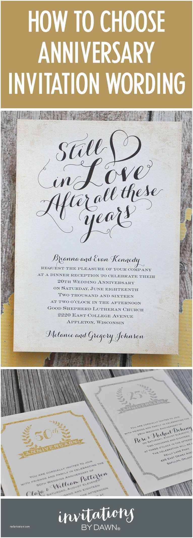 Wedding Anniversary Invitation Wording Finding the Right Wedding Anniversary Invitation Wording