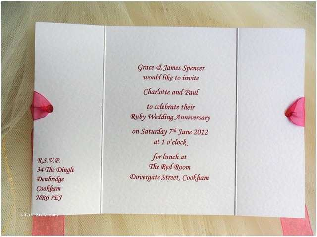 Wedding Anniversary Invitation Wording Gatefold Wedding Anniversary Invitations From £1 Each for