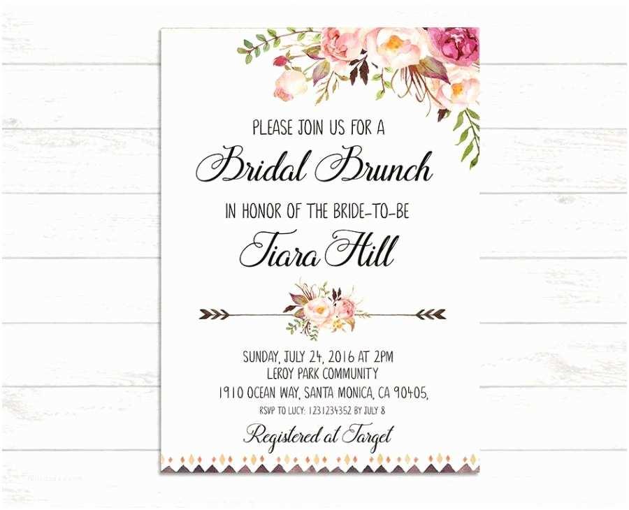 Wedding Brunch Invitations Bridal Brunch Invitation Printable Bridal Invite