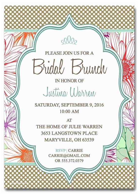 Wedding  Invitations Bridal Shower  Invitation Template Bridal