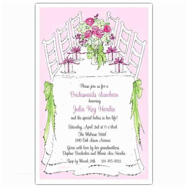 Wedding Brunch Invitations Bridesmaids Luncheon Invitations