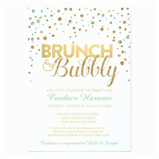 Wedding Brunch S Brunch & Bubbly Glitter Bridal Shower
